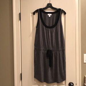 LOFT gray and black sleeveless dress